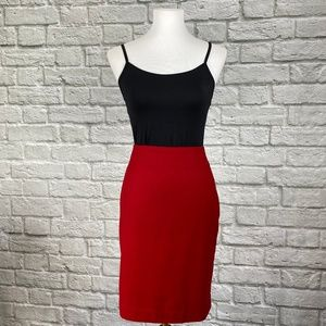 Talbots Red Pencil Skirt Petite